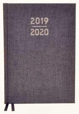 Waterstones Signature Blue Desk Diary 2019-2020