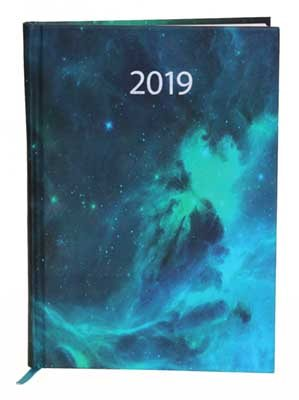 Waterstones Signature Celestial Desk Diary 2019