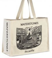 Waterstones Piccadilly natural cloth bag