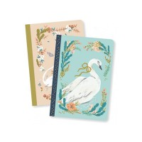 Unicorn And Swan Notebooks