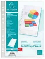 A4 Grained Punched Pockets Pack Of 100