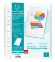 A4 Grained Punched Pockets Pack Of 50