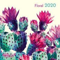 2020 Floral Greenline Mini Wall Calendar