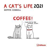 2021 A Cats Life Wall Calendar