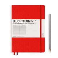Red Medium Ruled Notebook