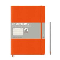 Orange Composition B5 Ruled Notebook Softcover