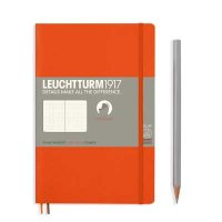 Orange Paperback B6+ Dotted Notebook Softcover