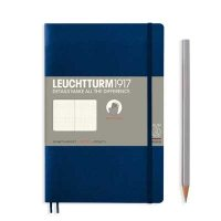 Navy Paperback B6+ Dotted Notebook Softcover