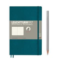 Pacific Green Paperback B6+ Dotted Notebook Softcover