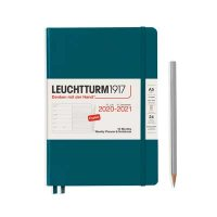 PACIFIC GREEN 18M A5 WEEKLY PLANNER & NOTEBOOK DIARY 2020-2021