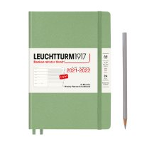 Sage 18M A5 Weekly Planner & Notebook Diary 2021-2022