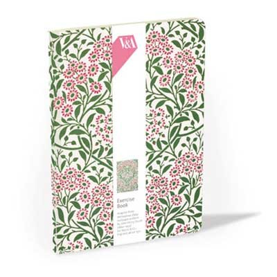 Michaelmas Daisy Lined Exercise Book