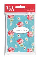 Chintz Roses Thank You Cards