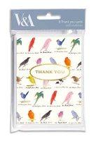Edward Lear Birds Thank You Cards