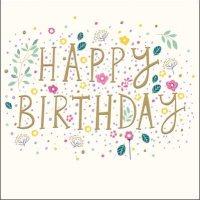 Happy Birthday Pretty Floral Card