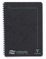 Black A5 Lined Wirebound Notebook