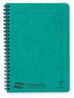 Green A5 Lined Wirebound Notebook