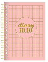 Scandi Pink Day to View A5 Diary 2018-2019