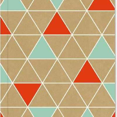 A5 Orange Turquoise Triangles Exercise Book