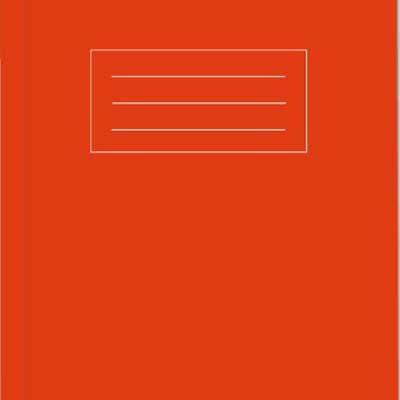 A5 Orange Exercise Book