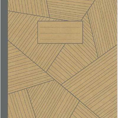 A4 Kraft Grey Geo Exercise Book