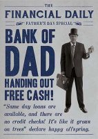 Bank Of Dad Father's Day Card