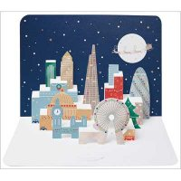 London Snow 3D Form Cards X5