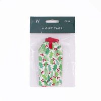 Holly and Foiled Berries Gift Tags Pack of 6