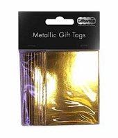 Metallic Gold Tags X8