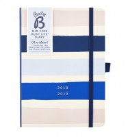 Busy B Stripes Week to View A5 Pocket Diary 2018-2019