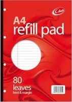 Club A4 Refill Pad Red 160 Pages/80 Leaves