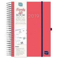 Family Life Book Week to View A5 16m Diary 2018 -2019