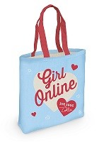 Girl Online Canvas Tote Bag