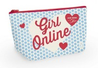 Girl Online Canvas Pencil Case