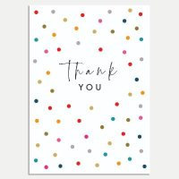 Multi Dots Thank You Cards - Pack of 8