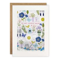 Mum Gardening Pattern Rectangular Shakies Card