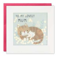 Lovely Mum Cats Paper Shakies Card