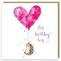 Big Birthday Love Hedgehog Card