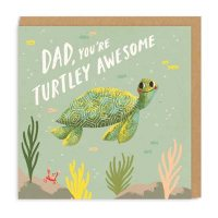 Dad, You're Turtley Awesome Father's Day Card