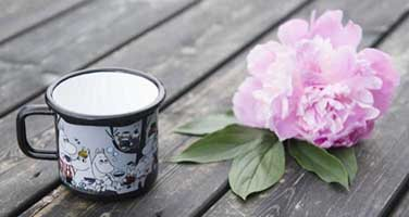 Moomin Picnic Enamel Mug