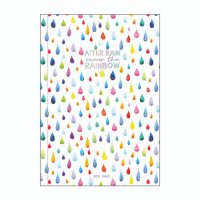 Raindrops Medium Weekly 18 Month Diary 2021-2022