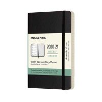 Black Weekly 18m Soft Pocket Diary 2020-2021