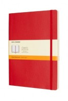 Scarlet Red Ruled Soft Notebook Xl