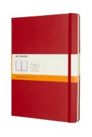 Scarlet Red Ruled Hard Notebook Xl