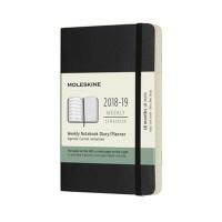 Black Weekly Soft Pocket Diary 2018-2019