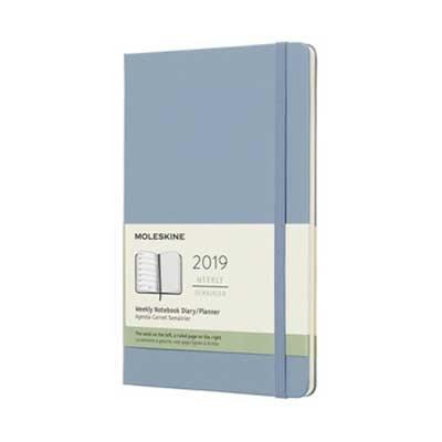 Cinder Blue Weekly  Hard Large Diary 2019