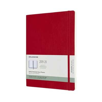 Scarlet Red Weekly Soft Xlarge Diary 2019-2020