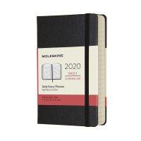 Black Daily Pocket Hard Diary 2020