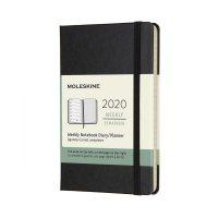 Black Weekly Pocket Hard Diary 2020