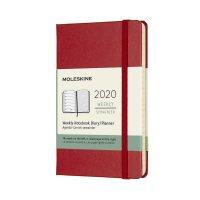 Scarlet Red Pocket Weekly Hard Diary 2020